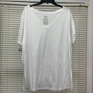 NWOT Faded Glory Short Sleeve White T-Shirt Size